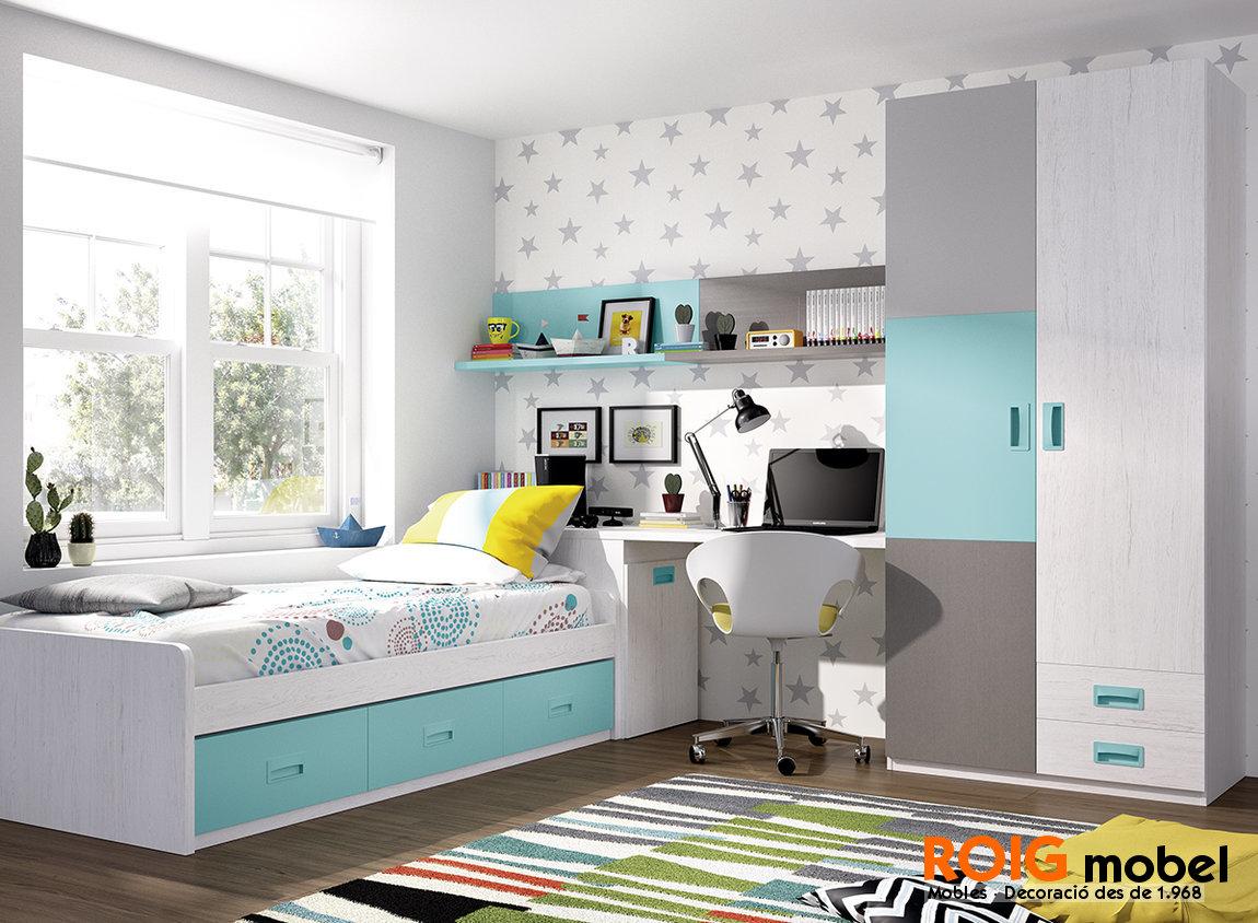 3 2 nidos camas plegables y cunas dormitorios juveniles - Habitacion con cama nido ...
