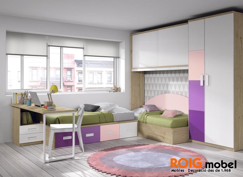 50 1 camas nido dormitorios juveniles catalogo for Habitacion juvenil 2 camas