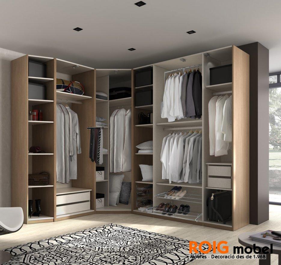Armarios rinconeros armarios y vestidores catalogo for Espejos vestidores de pared