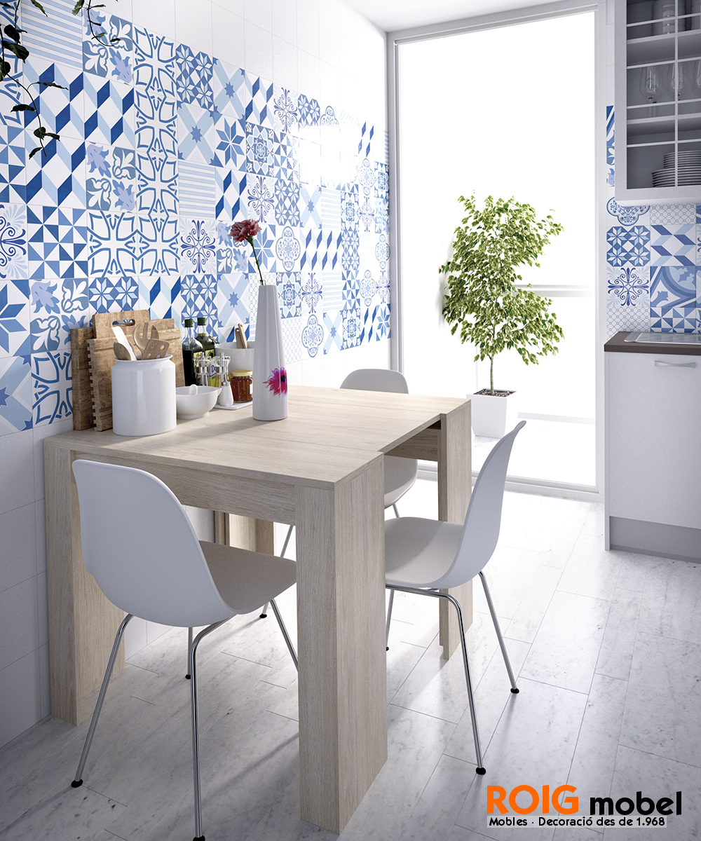 Mesas recibidor extensibles mesas catalogo for Wok cuatro cocinas granollers