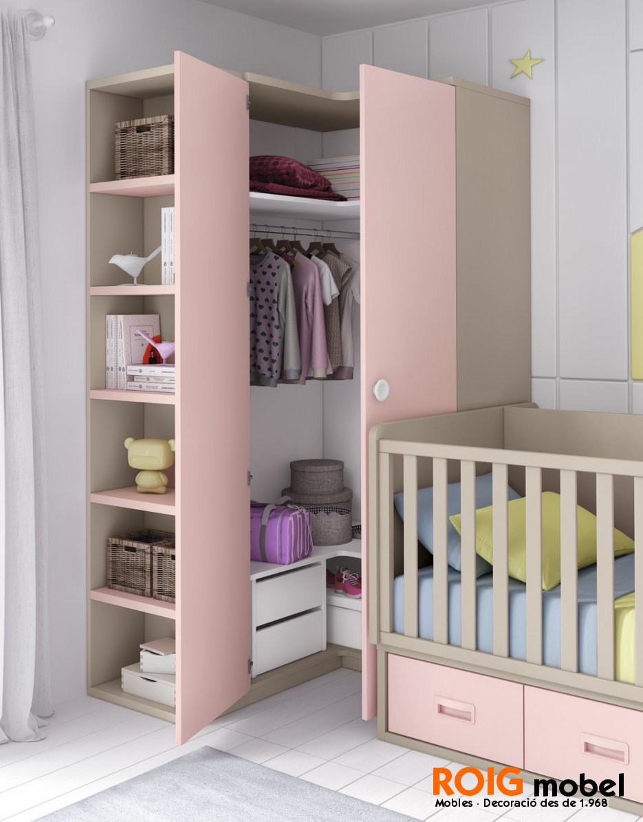 Armarios rinconeros infantiles armarios y vestidores for Armarios de habitacion