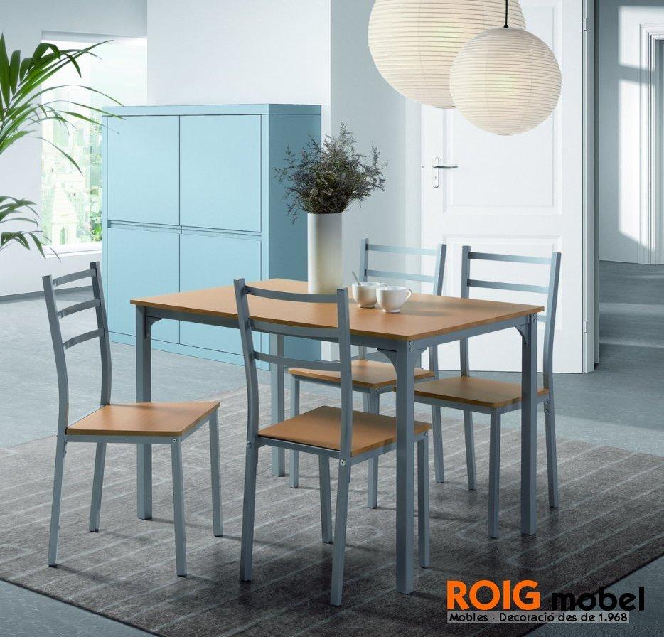 Taules de cuina taules cat leg for Mesas y sillas de madera para cocina